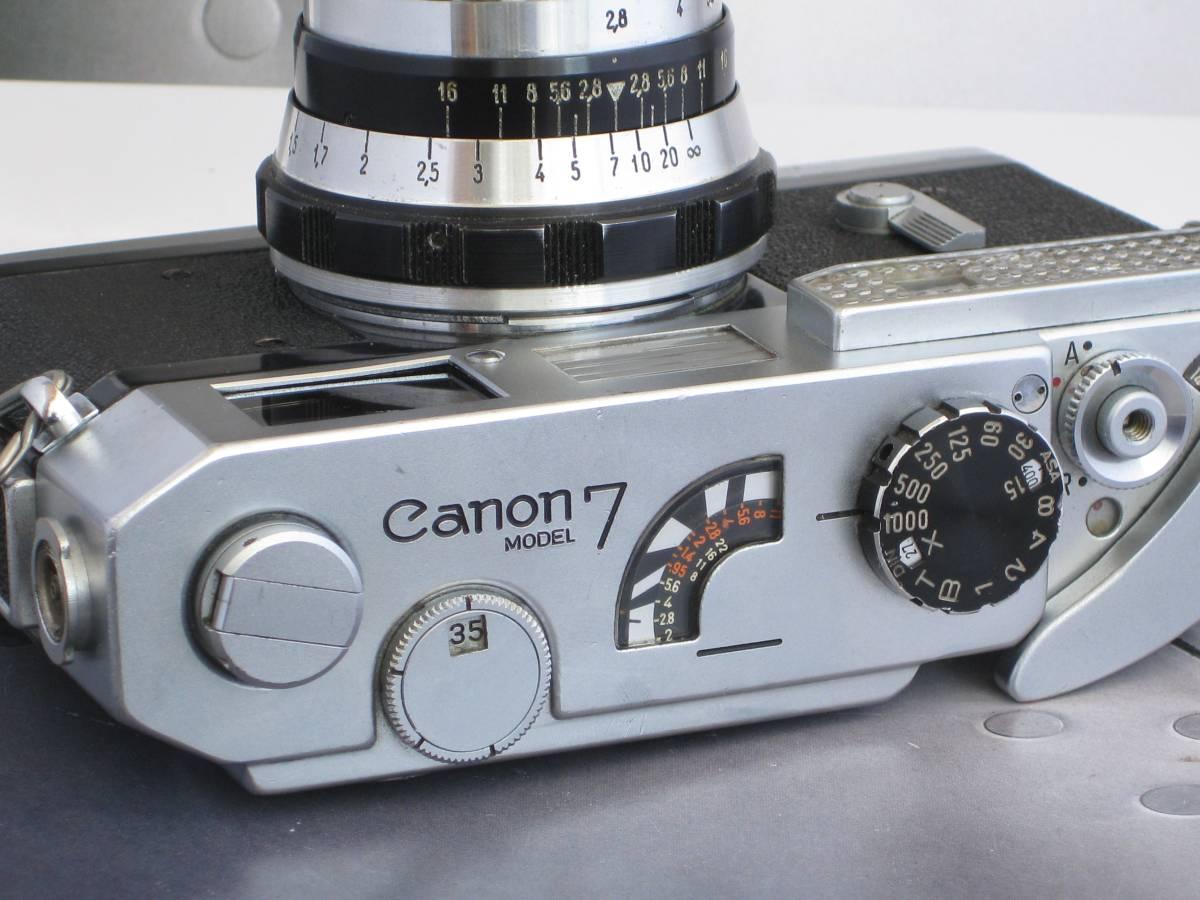 Canon キャノン7 レンジファインダー・カメラ FED フェド インダスター61 53mm F2.8 オールド ヴィンテージ クラシックカメラ_画像7