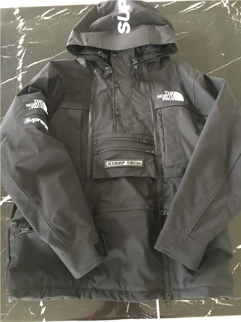2016SS the north face steep tech hooded jacket ブラックM 国内正規品 美品