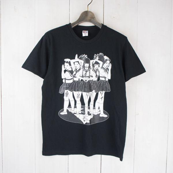 東京ゲゲゲイ*TOKYO GEGEGAY*半袖プリントTシャツ(M)ブラック