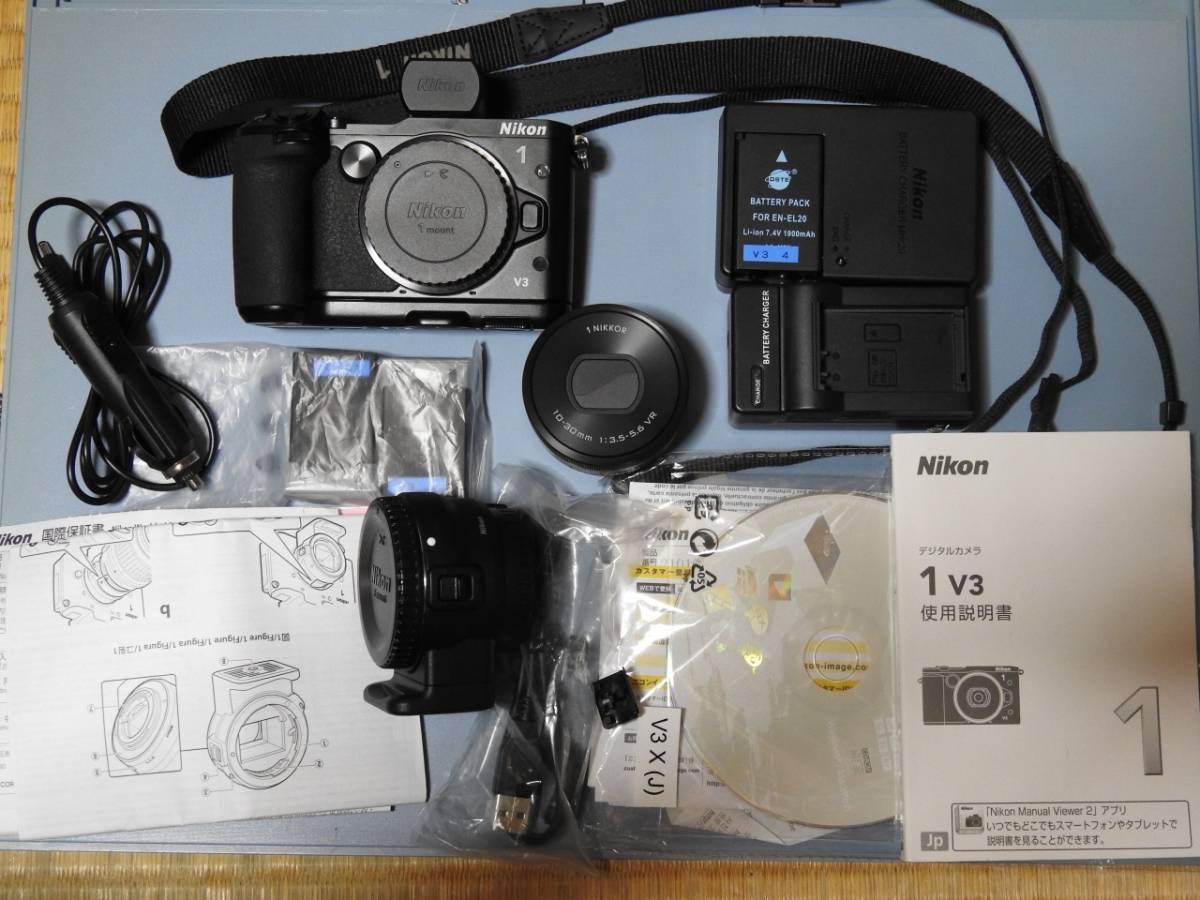 Nikon1 V3プレミアムキット+マウントアダプターFT1 その他付属品多数 美品 保証長期