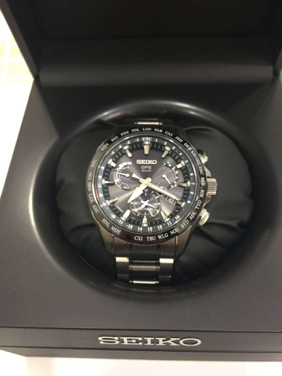 セイコー SEIKO アストロン 保証書付 時計 腕時計 GPS ソーラー電波 チタン SBXB045 /8X53-0AB0 2017ー11ー16購入 美品