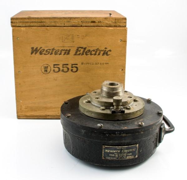 貴重 Western Electric ウェスタン 555w ドライバー 動作品 木箱付 スピーカー オーディ