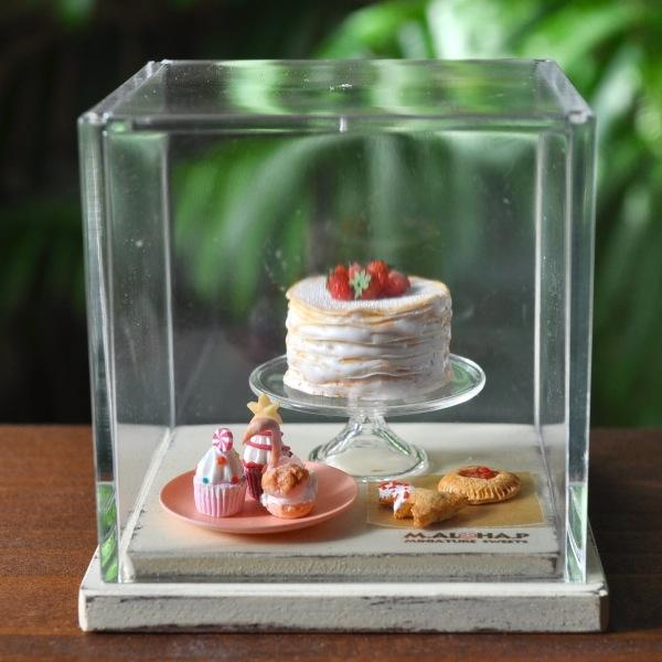 *ベリー クレープケーキ セット スワンシュー パイ カップケーキ クリスマス ハンドメイド ドールハウス ミニチュア 食品サンプル *_画像5