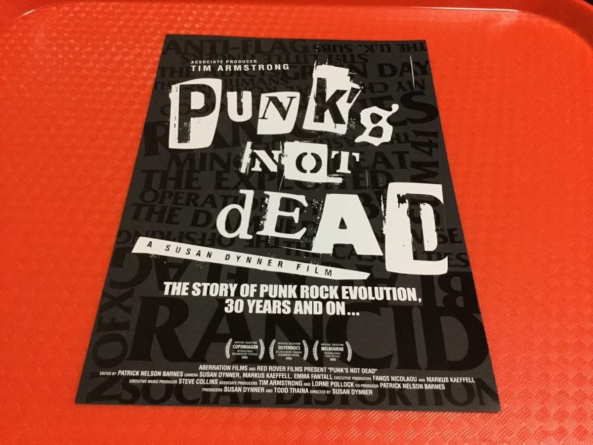 映画 パンクス・ノット・デッド PUNK'S NOT DEAD チラシ1枚☆即決 ランシド Rancid グリーンデイ Green Day パンク PUNK