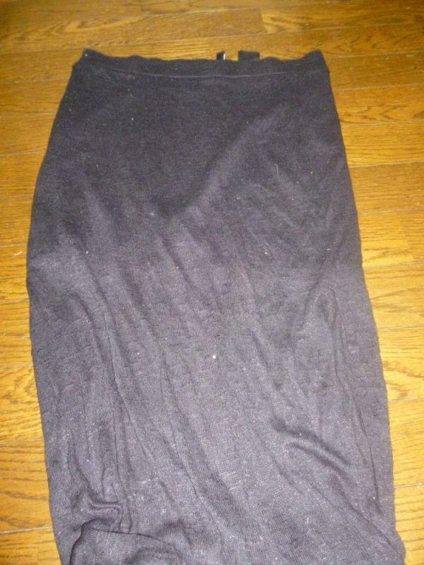 【名波朋香】黒ロングスカート