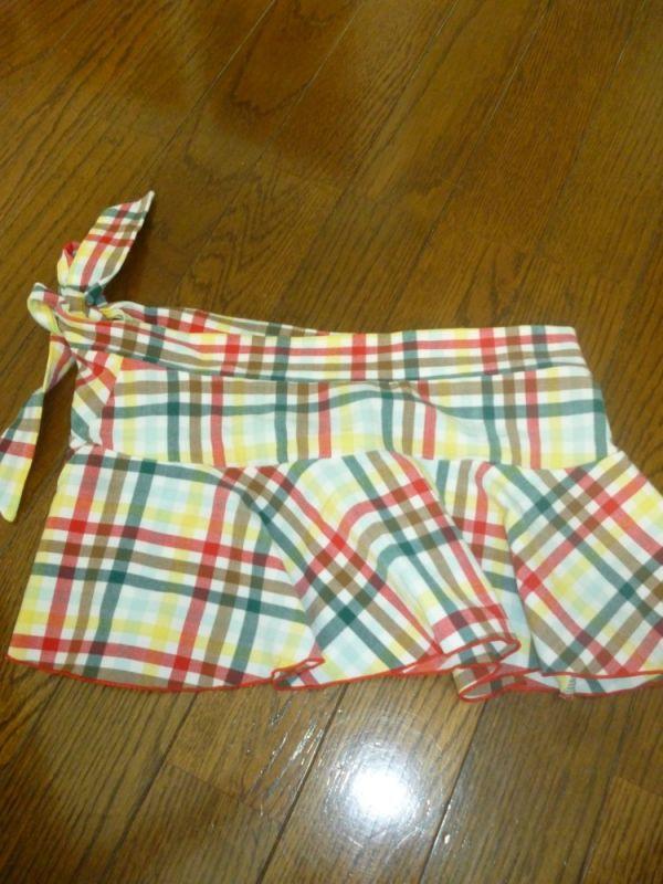 【早川里香】チェック柄スカート