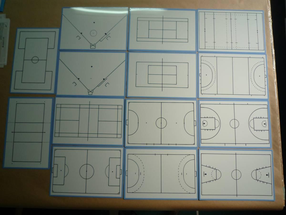 バスケットボール作戦ボード(作戦板・作戦版・作戦盤)鉄板 A4_その他のサンプル