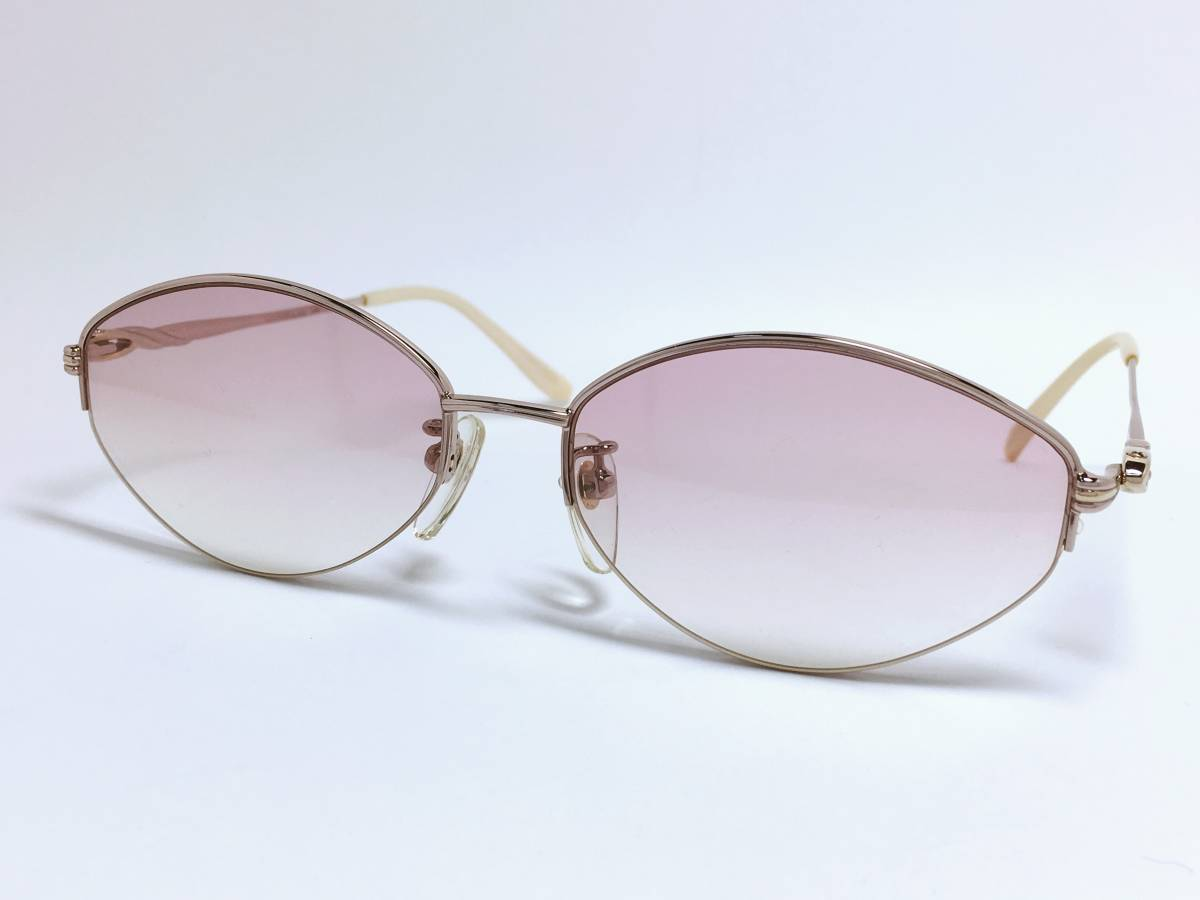48a869ce9a1 Pierre Balmain BALMAIN sunglasses * pink made in Japan half rim ...