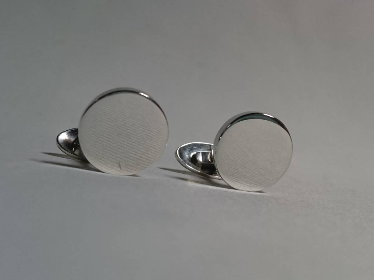 正規激レア! TIFFANY&COティファニー ヴィンテージ 鏡面ミラー オーバルカフス シルバー925 ラウンドカフリンクス アンティークボタン T&CO_画像5