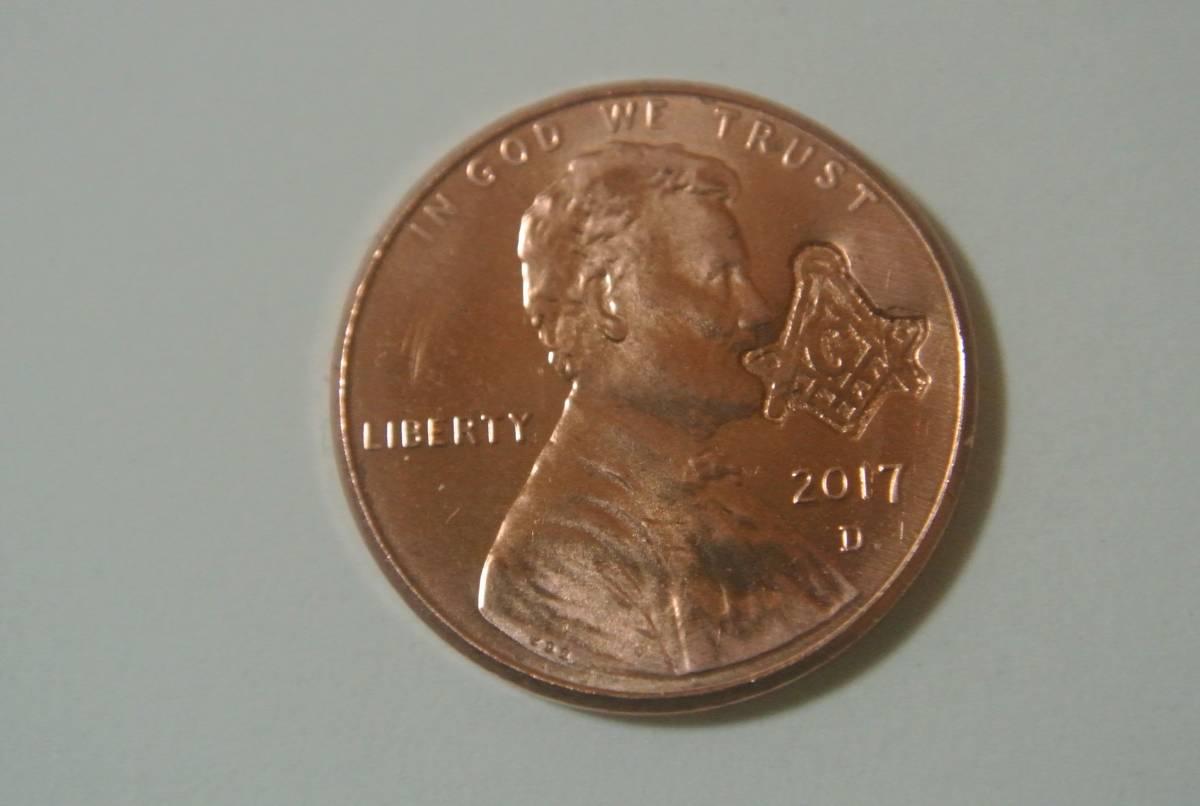 激レア 新品 未使用 フリーメイソン ペニーコイン 2_画像5