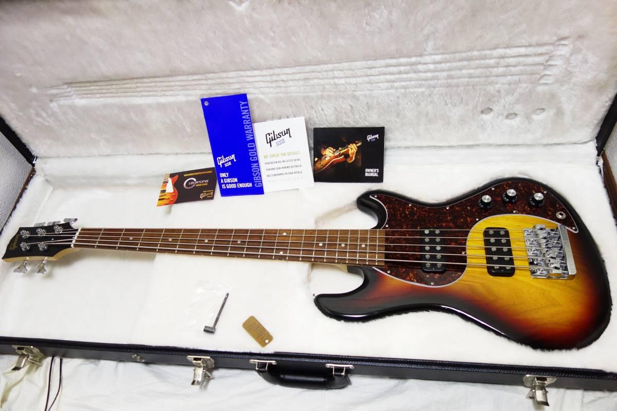 ★レア!Gibon 5弦ベース「EB Bass」 2013年製 純正HC付き 美品 K-1710