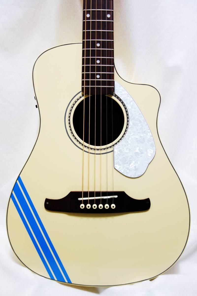 ★レア!Fender Acoustics FSR Malibu CE Mustang」Olympic White ムスタング50周年記念 J-1730