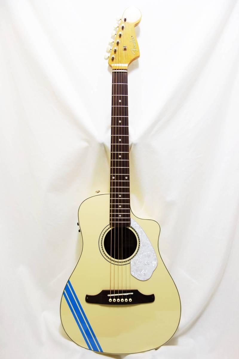 ★レア!Fender Acoustics FSR Malibu CE Mustang」Olympic White ムスタング50周年記念 J-1730_画像2