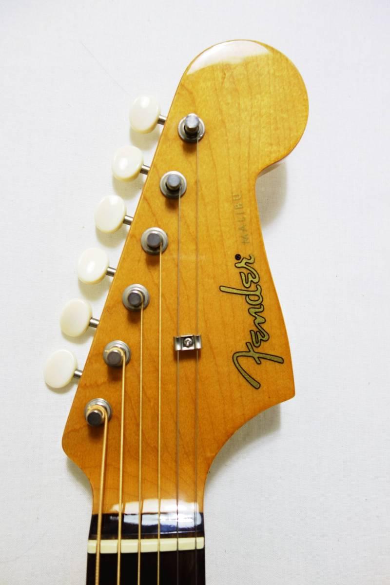 ★レア!Fender Acoustics FSR Malibu CE Mustang」Olympic White ムスタング50周年記念 J-1730_画像3