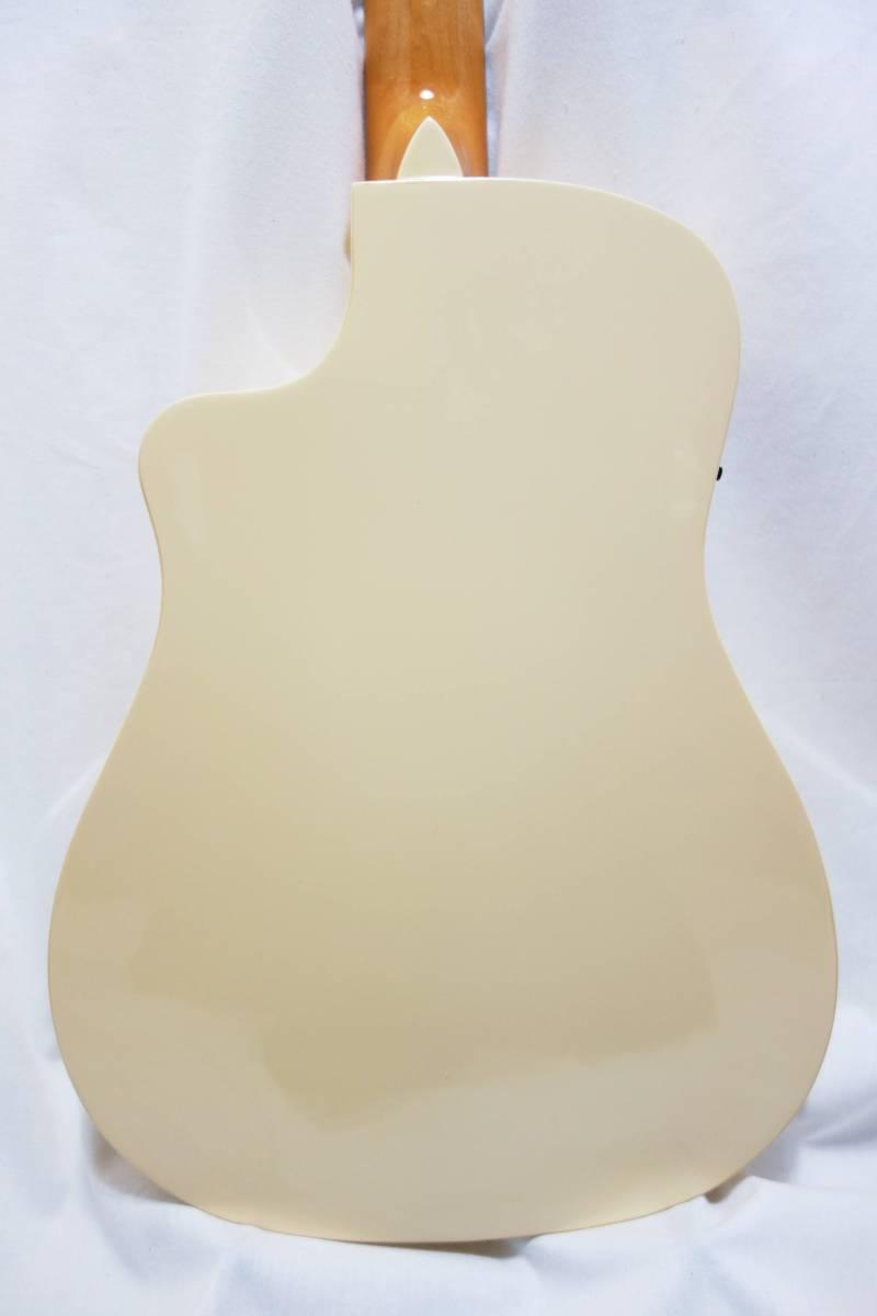 ★レア!Fender Acoustics FSR Malibu CE Mustang」Olympic White ムスタング50周年記念 J-1730_画像5