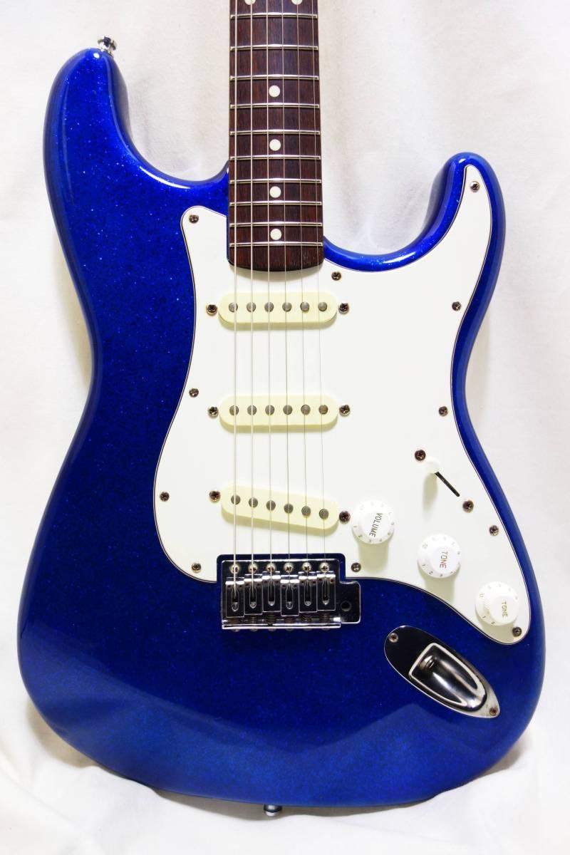 ★1円スタート売切り!レア!Fender Japan ストラト「STR-65SP」ブルースパークル J-1732