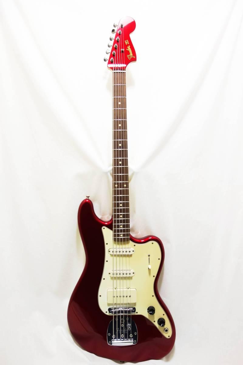 ★レア!Fender Pawn Shop Bass VI バリトン キャンディアップルレッド 生産終了品モデル 美品 H-1702_画像2