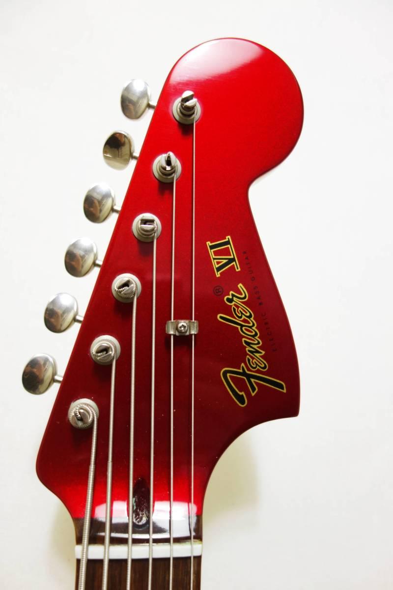 ★レア!Fender Pawn Shop Bass VI バリトン キャンディアップルレッド 生産終了品モデル 美品 H-1702_画像3