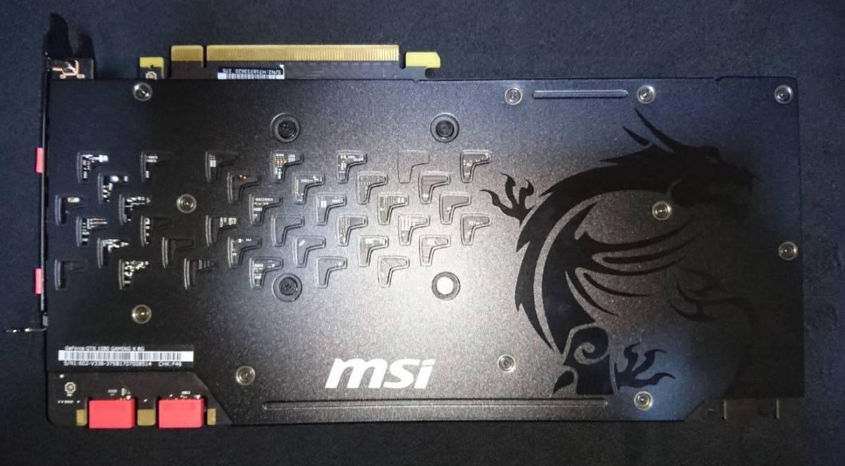 MSI GeForce GTX 1080 GAMING X 8G  中古品_画像3