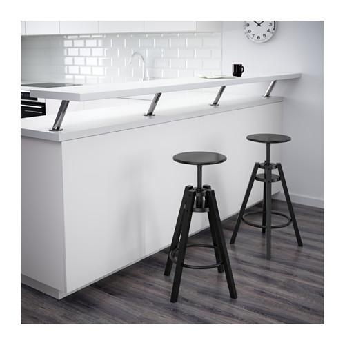 ☆ IKEA イケア ☆ DALFRED バースツール, ブラック <63-74 cm> u ☆_画像3