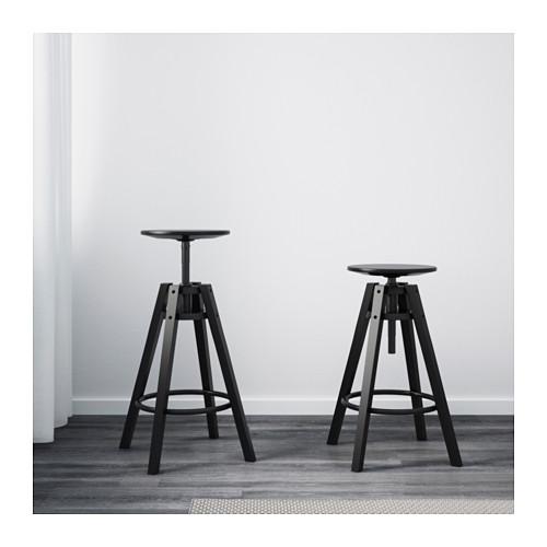 ☆ IKEA イケア ☆ DALFRED バースツール, ブラック <63-74 cm> u ☆_画像4