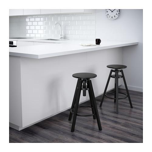 ☆ IKEA イケア ☆ DALFRED バースツール, ブラック <63-74 cm> u ☆_画像2