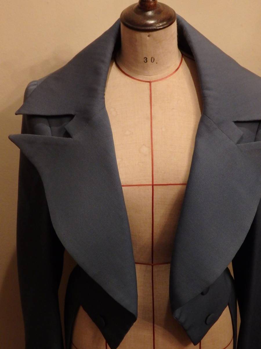 フランスヴィンテージ50's舞台衣装19世紀デザインコート・パンツ2ピース/ヴィクトリアンアンティーク燕尾服ベルばらコスプレΓMT