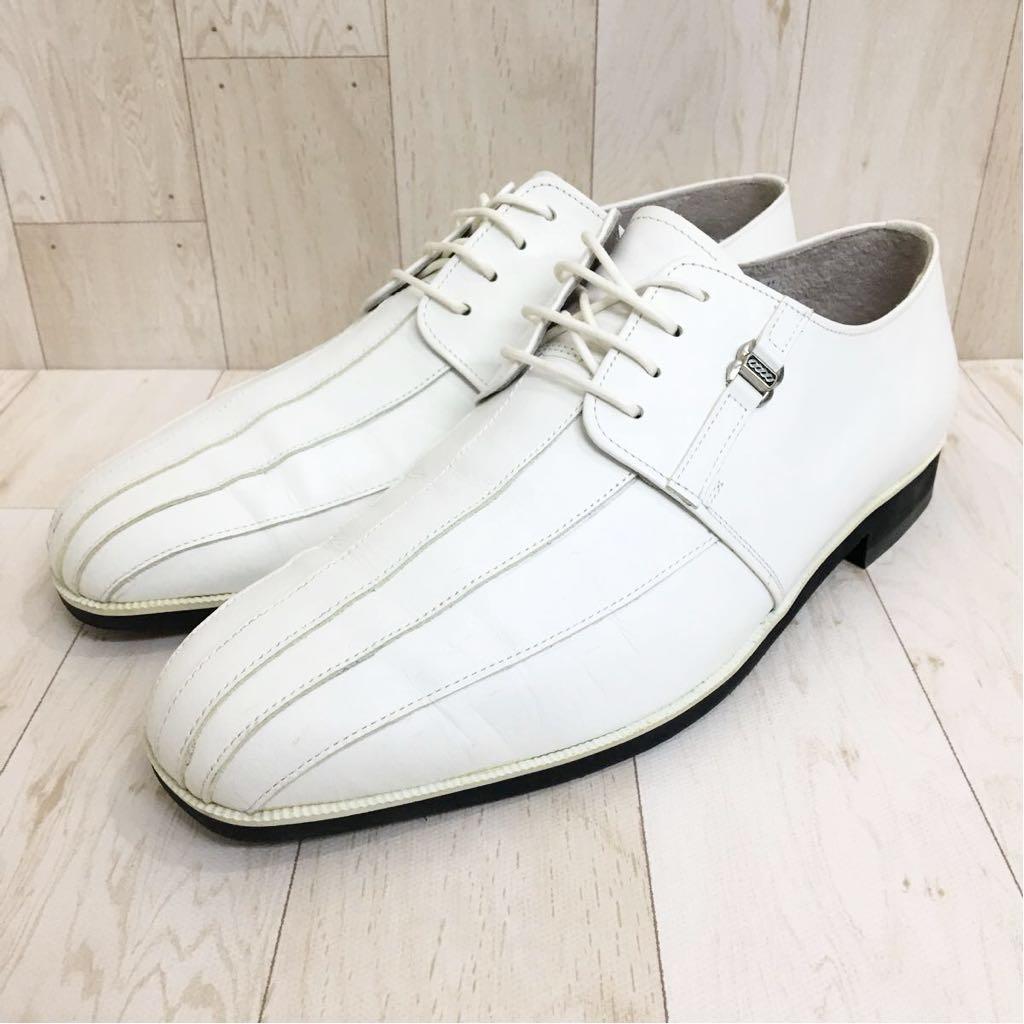SETTE CANE セッテカーネ 高級 本革 レザー カジュアル シューズ 靴 紳士 メンズ サイズ8 26.0cm 白/ホワイト 検) ちょい悪