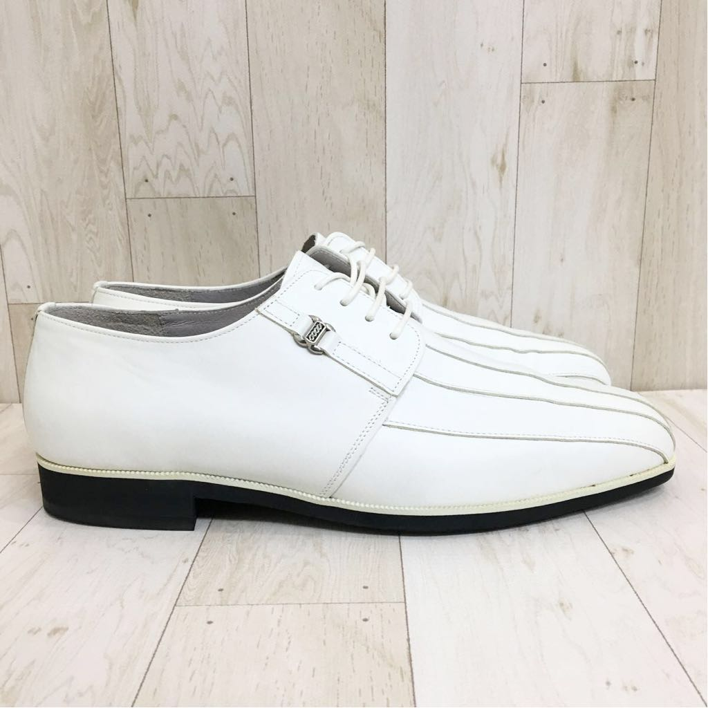 SETTE CANE セッテカーネ 高級 本革 レザー カジュアル シューズ 靴 紳士 メンズ サイズ8 26.0cm 白/ホワイト 検) ちょい悪_画像5
