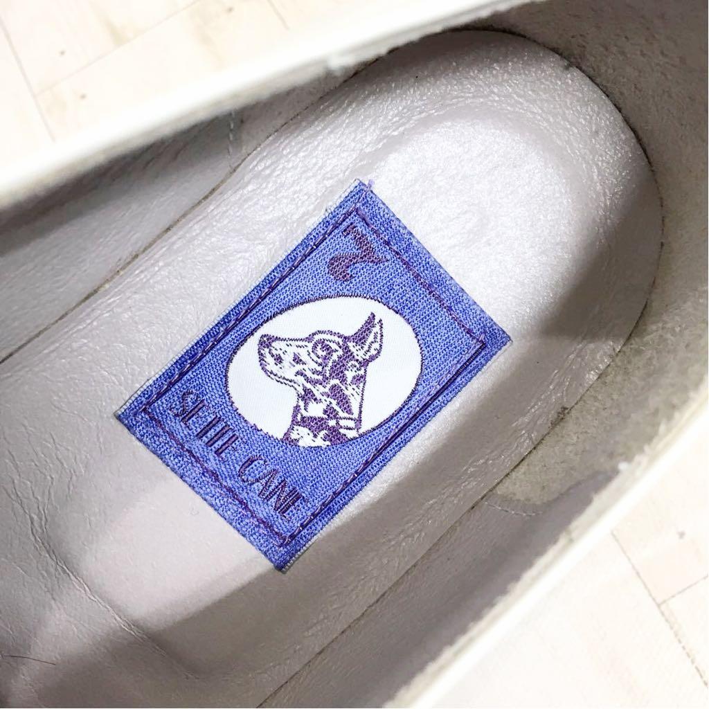 SETTE CANE セッテカーネ 高級 本革 レザー カジュアル シューズ 靴 紳士 メンズ サイズ8 26.0cm 白/ホワイト 検) ちょい悪_画像9