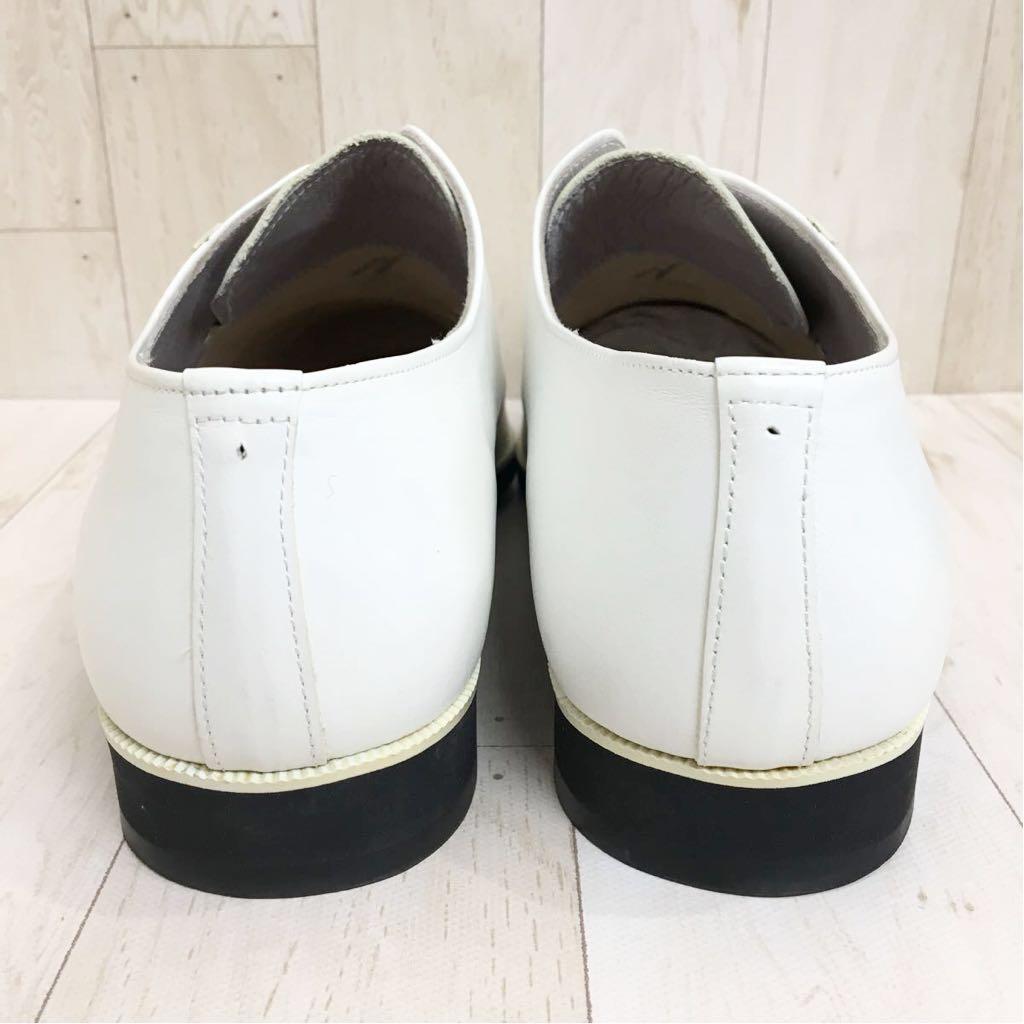 SETTE CANE セッテカーネ 高級 本革 レザー カジュアル シューズ 靴 紳士 メンズ サイズ8 26.0cm 白/ホワイト 検) ちょい悪_画像6