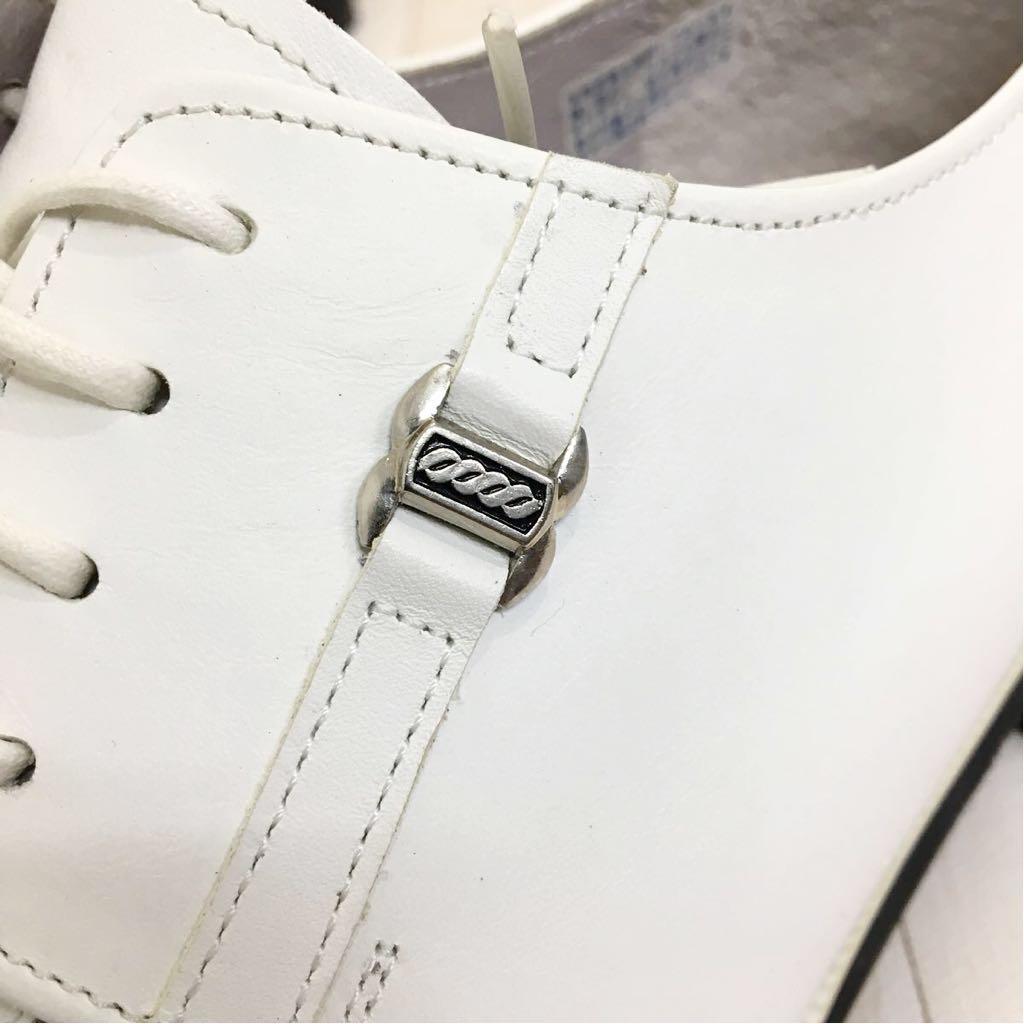 SETTE CANE セッテカーネ 高級 本革 レザー カジュアル シューズ 靴 紳士 メンズ サイズ8 26.0cm 白/ホワイト 検) ちょい悪_画像8