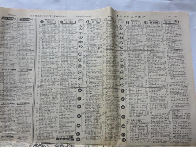 スポーツニッポン新聞/1981年(昭和56年)7月24日金曜日(第11729号)_画像2