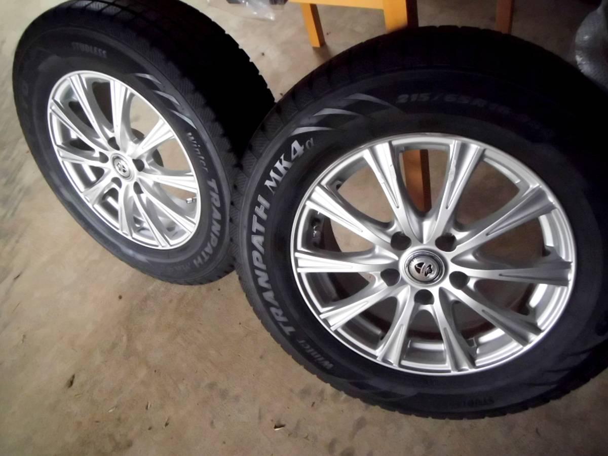16年製9分以上.スタッドレス 215/65R16 トーヨー トランパス MK4α エスティマ アルファード