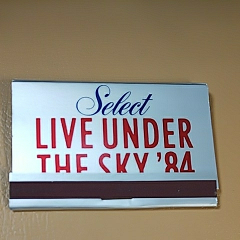□LIVE UNDER THE SKY´84 記念マッチ