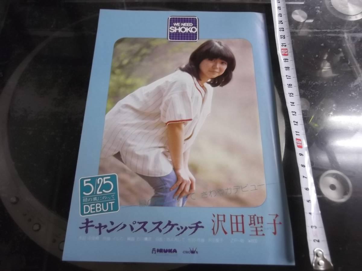 沢田聖子 キャンパススケッチ デビュー フライヤー チラシ 保存状態良好