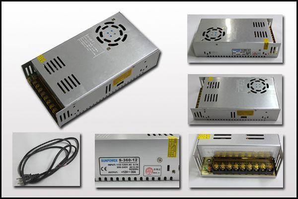 AC-DC12V 直流安定化電源 ACDCコンバーター100V 12V30A_画像2