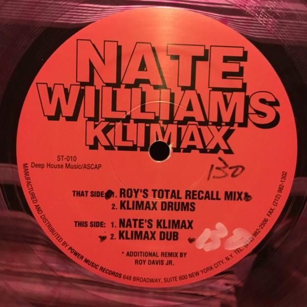 Nate Williams / Klimax (Remix Roy Davis Jr ) Sex Trax