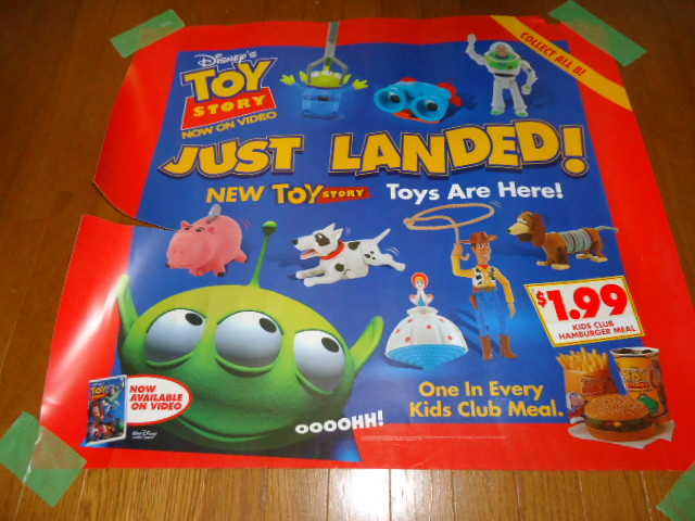 prompt decision US 1996 year made Burger King Toy Story 1 shop front display autograph 63×70