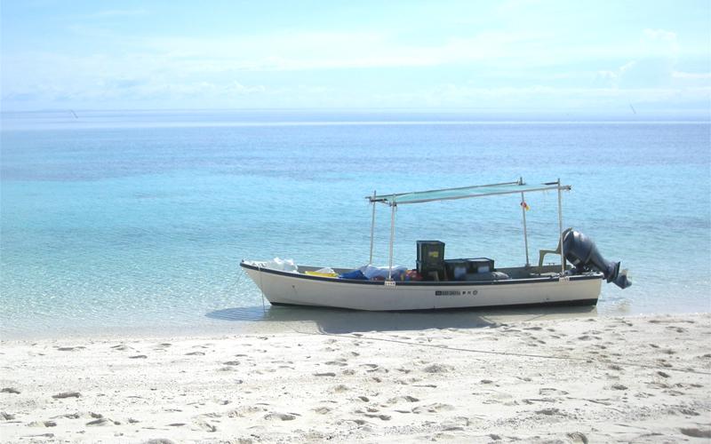 海外 フィリピン セブ島近くの島 屋根付き艇庫保管 ヤマハ モーターボート 40馬力 フィリピン現地お引き渡し_画像1