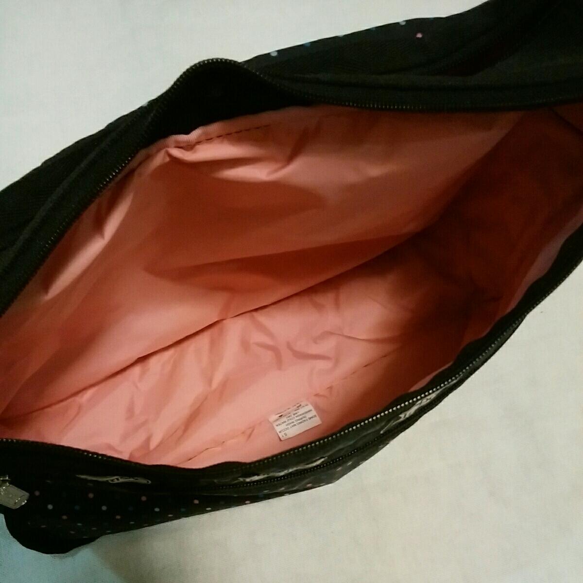 レスポートサック LeSportsac ショルダー バッグ 黒 ドット 水玉 レスポ_画像7