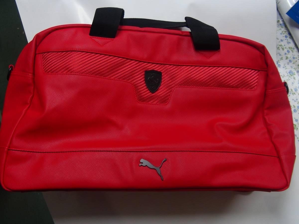 PUMA プーマ Ferrari フェラーリ ボストンバッグ 赤 美品