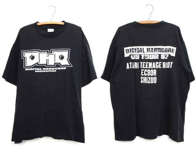 レア【90s ビンテージ 97年 DHR デジタルハードコアレコーディング ツアー Tシャツ アタリティーンエイジライオット ATARI TEENAGE RIOT