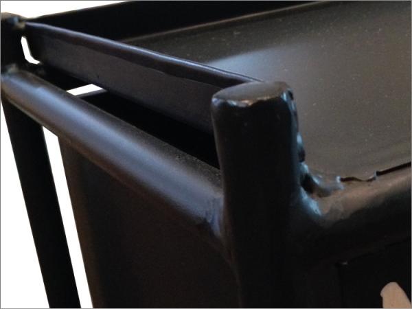 送料無料 2段 スチールチェスト インダストリアル 棚 ラック カフェ 男前インテリア 小物入れ シャビー 西海岸 ブルックリン 収納_画像5