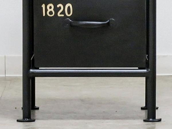 送料無料 2段 スチールチェスト インダストリアル 棚 ラック カフェ 男前インテリア 小物入れ シャビー 西海岸 ブルックリン 収納_画像3