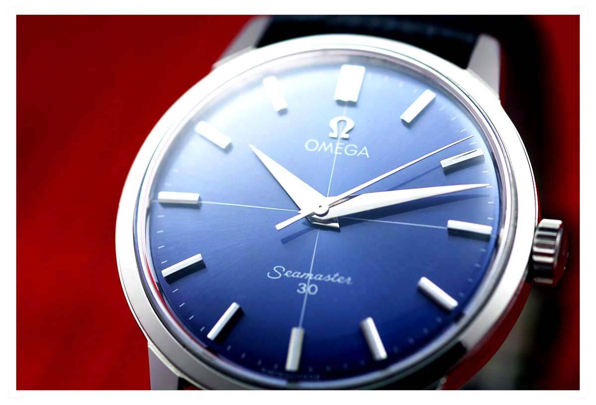 オメガ Seamaster 30 Blue Dial メンズ 手巻き ( 極美品、OH済み )