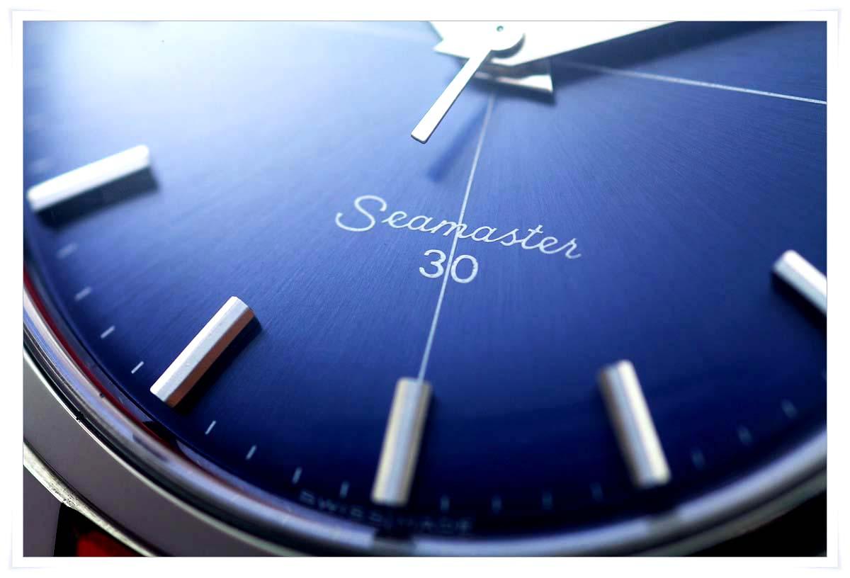 オメガ Seamaster 30 Blue Dial メンズ 手巻き ( 極美品、OH済み )_画像4