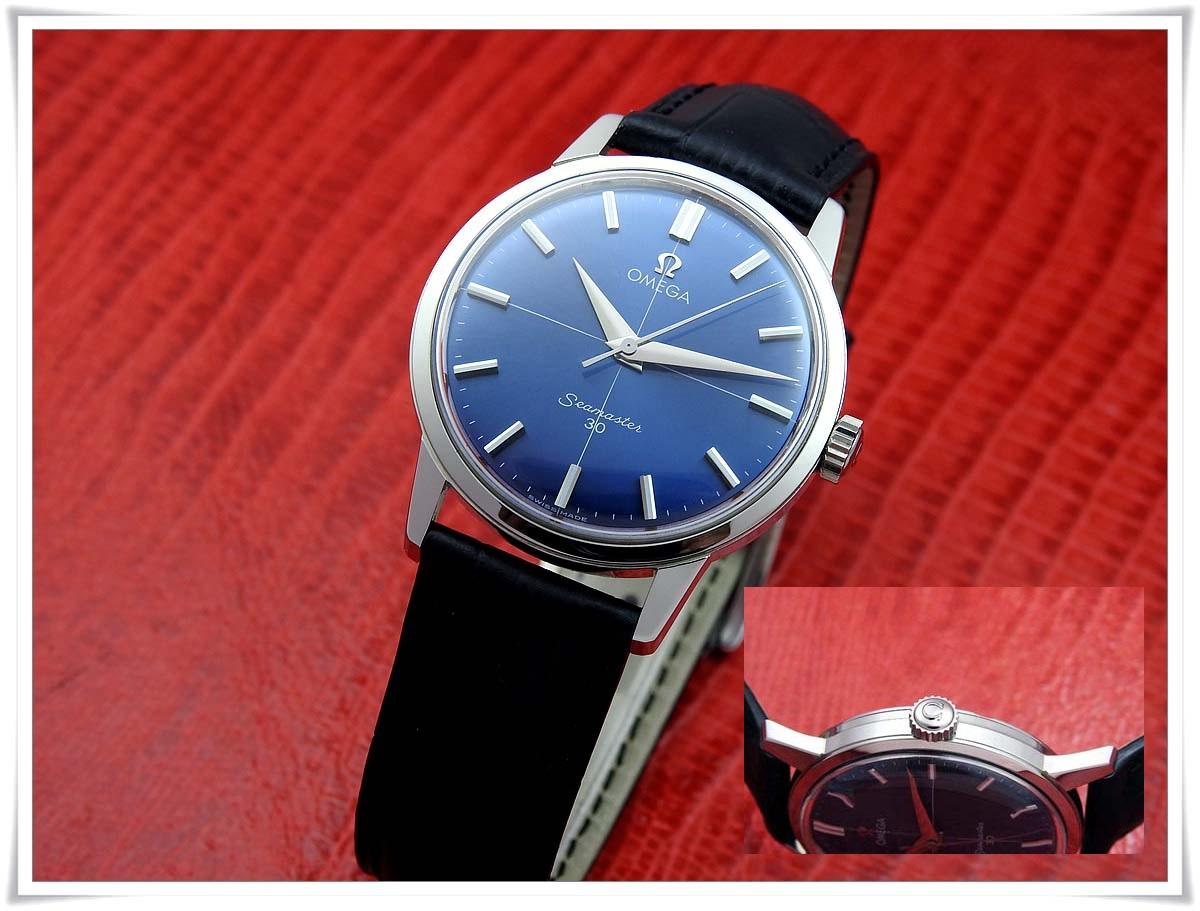 オメガ Seamaster 30 Blue Dial メンズ 手巻き ( 極美品、OH済み )_画像6