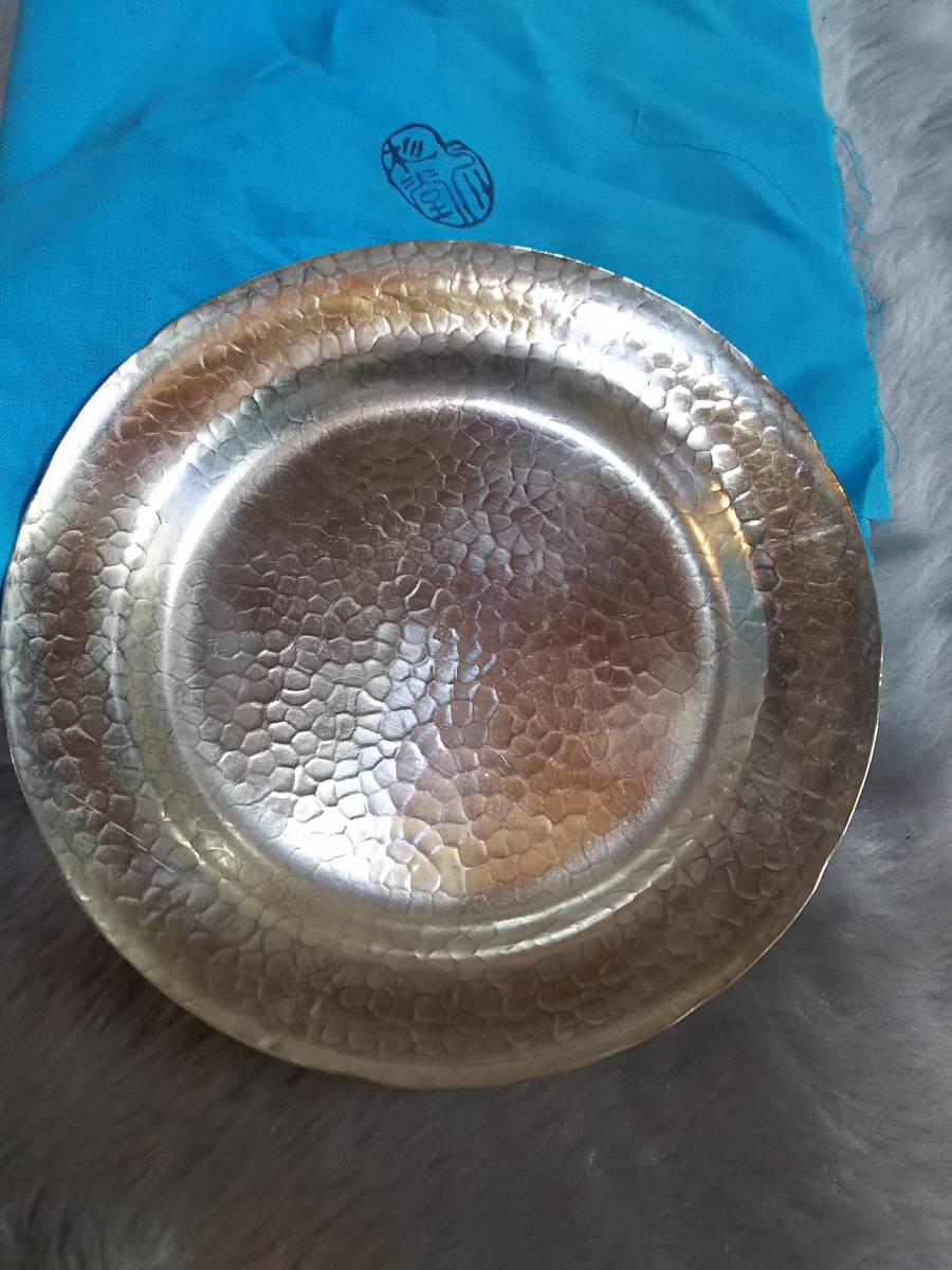 (鳥羽)うぶだし最終値下げ茶道具呉杉堂純銀菓子皿10枚セット重量957グラム 共箱式布付き_画像8