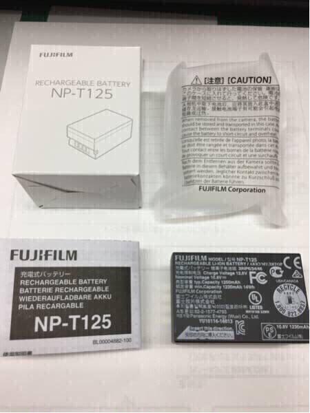 ☆フジフイルム 充電式バッテリー NP-T125 GFX50S用